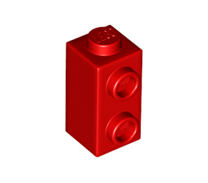 LEGO Red Brick 1 x 1 x 1.3 with Two Side Studs (32952)