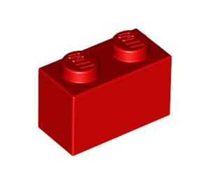LEGO Red Brick 1 x 2 (3004 / 93792)