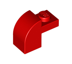 LEGO Red Brick 1 x 2 x 1.33 with Curved Top (6091 / 32807)