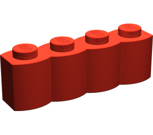 LEGO Red Brick 1 x 4 Log (30137)