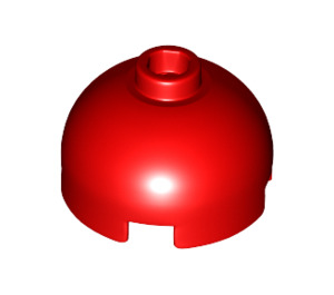 LEGO Red Brick 2 x 2 Round with Dome Top (Hollow Stud with Bottom Axle Holder x Shape + Orientation) (30367)