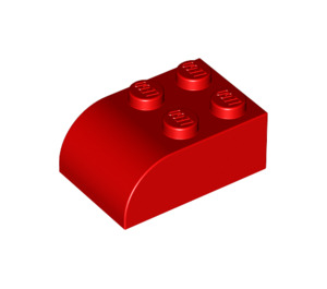 LEGO Red Brick 2 x 3 with Curved Top (6215)