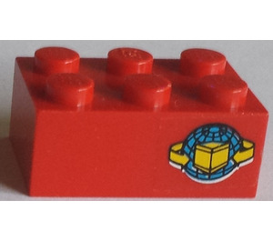 LEGO Red Brick 2 x 3 with Sticker from Set 6542