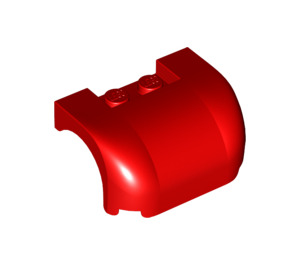 LEGO Red Car Mudguard 3 x 4 x 1.667 Curved (38224 / 93587)