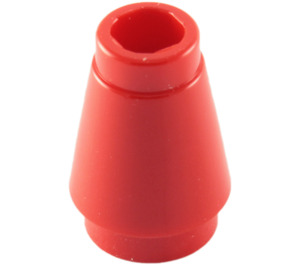 LEGO Red Cone 1 x 1 with Top Groove (59900)