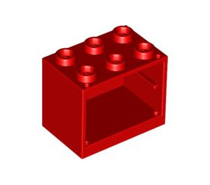 LEGO Red Cupboard 2 x 3 x 2 with Recessed Studs (92410)