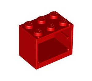 LEGO Red Cupboard 2 x 3 x 2 with Solid Studs (4532)