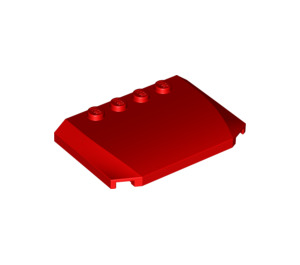 LEGO Red Curved Wedge Plate 4 x 6 x 2/3 (52031)