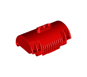 LEGO Red Cylinder Half 3 x 8 x 5 with 3 Holes (15361)