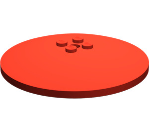 LEGO Red Dish 8 x 8 Inverted (3961)