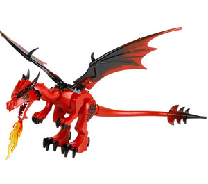 LEGO Red Dragon with Red Head