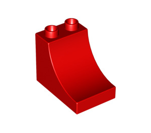 LEGO Red Duplo Brick 2 x 3 x 2 with Curved Ramp (2301)
