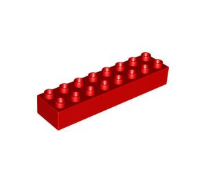 LEGO Red Duplo Brick 2 x 8 (4199)