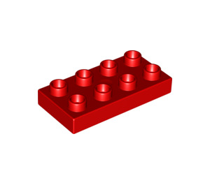 LEGO Red Duplo Plate 2 x 4 (4538 / 40666)