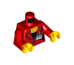 """LEGO Red Female Minifig Torso with """"Press""""-Badge (76382)"""