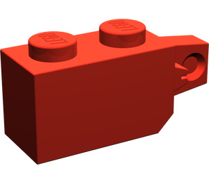 LEGO Red Hinge Brick 1 x 2 Locking with Single Finger (Vertical) On End (30364)