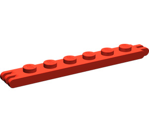 LEGO Hinge Plate 1 x 6 with 2 and 3 Stubs On Ends (4504)