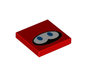 LEGO Red Huckit Crab Tile 2 x 2 with Groove (76902)