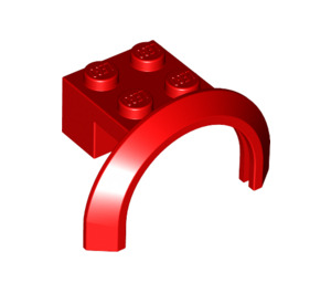 LEGO Red Mudguard with Round Arch 4 x 2 1/2 x 2 (50745)
