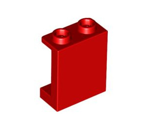 LEGO Red Panel 1 x 2 x 2 with Side Supports, Hollow Studs (87552)