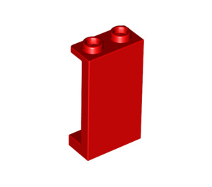 LEGO Red Panel 1 x 2 x 3 with Side Supports - Hollow Studs (87544)