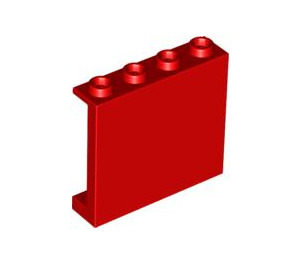 LEGO Red Panel 1 x 4 x 3 with Side Supports, Hollow Studs (60581)
