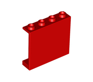 LEGO Red Panel 1 x 4 x 3 without Side Supports, Hollow Studs (4215)