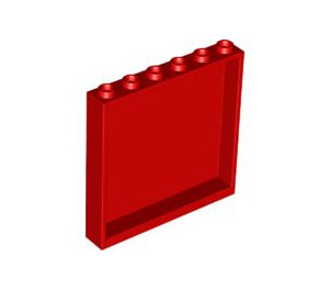 LEGO Red Panel 1 x 6 x 5 (59349)