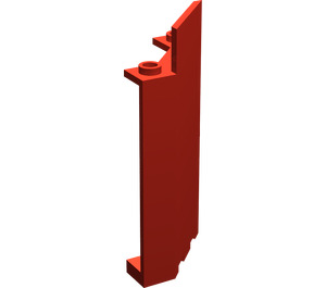 LEGO Red Panel Wall 3 x 3 x 6 Corner without Bottom Indentations
