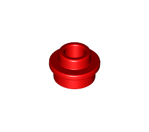 LEGO Red Plate 1 x 1 Round with Open Stud (28626)