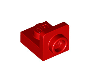 LEGO Red Plate 1 x 1 with 1/2 Bracket (36840)