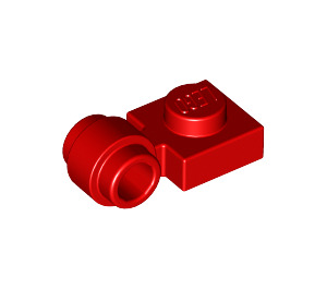 LEGO Red Plate 1 x 1 with Clip (Thick Ring) (4081)