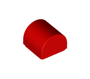 LEGO Red Plate 1 x 1 x 2/3 Outside Bow (49307)