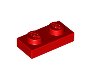 LEGO Red Plate 1 x 2 (3023)