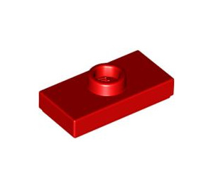 LEGO Red Plate 1 x 2 with 1 Stud (with Groove) (3794)