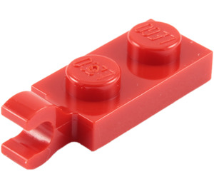 LEGO Red Plate 1 x 2 with Horizontal Clip on End (42923 / 63868)
