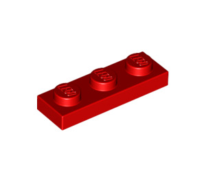 LEGO Red Plate 1 x 3 (3623)