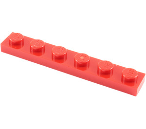 LEGO Red Plate 1 x 6 (3666)