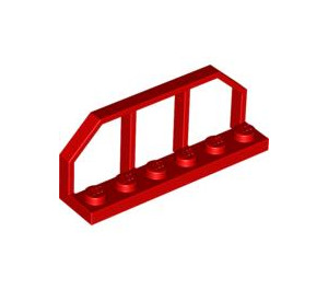 LEGO Red Plate 1 x 6 with Train Wagon End (6583)
