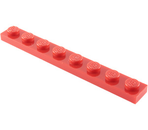 LEGO Red Plate 1 x 8 (3460)