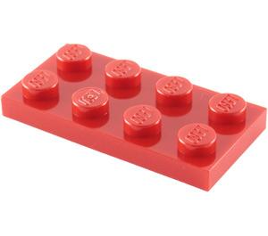 LEGO Rot Platte 2 x 4 (3020)