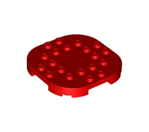 LEGO Red Plate 6 x 6 x 2/3 Circle with Reduced Knobs (66789)