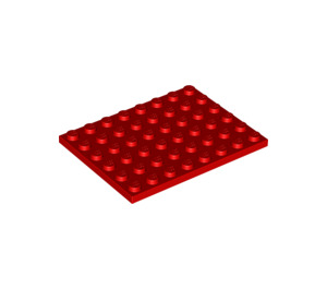 LEGO Red Plate 6 x 8 (3036)