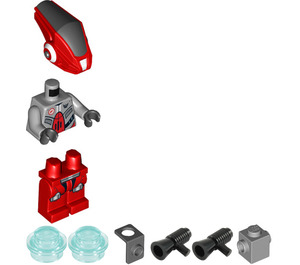 LEGO Red Robot Sidekick with Jet Pack Minifigure