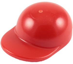 LEGO Red Short Curved Bill Cap with Short Curved Bill (86035)