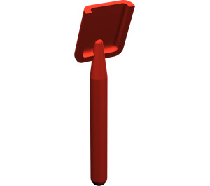 LEGO Red Shovel (Round Stem End) (3837)