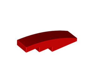 LEGO Red Slope 1 x 4 Curved (11153 / 61678)