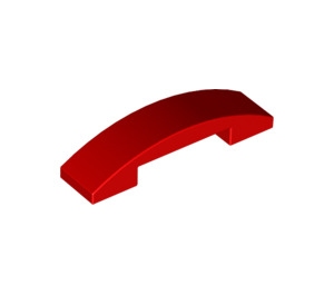 LEGO Red Slope 1 x 4 Curved Double (93273)