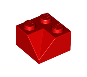 LEGO Red Slope 2 x 2 (45°) with Double Concave (Rough Surface) (3046)