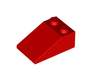 LEGO Red Slope 25° (33) 2 x 3 with Rough Surface (3298)